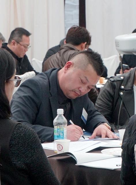 제11차 정기총회에 참석한 임원진들