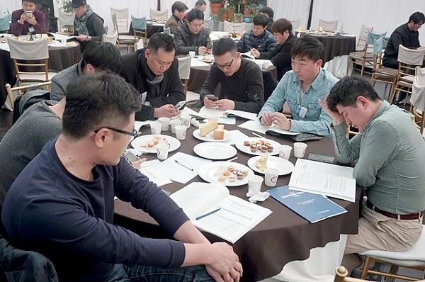 제11차 정기총회에 참석한 회원(사) 매니저들